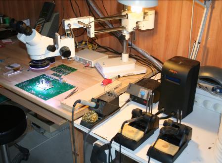 Controle visuel et fabrication sous binoculaires